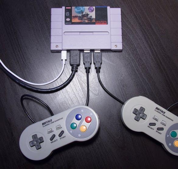 Hier kam ein Modul vom Super Famicon zum Einsatz. (Foto: Hackster.io)