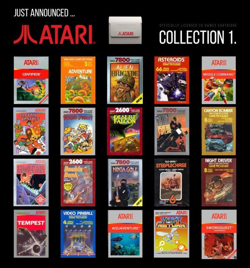 Das sind die Spiele der ersten Collection. (Foto: Evercade)