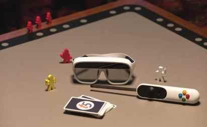 Brille, Spielbrett, Controller, Karten. (Foto: Tilt Five)