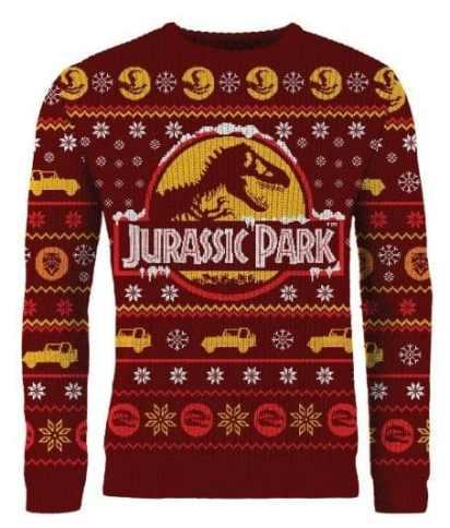Jurassic Park Weihnachtspullover. (Foto: Merchoid)