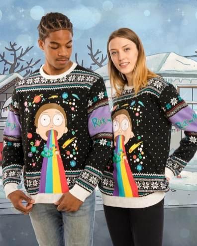 Rick & Morty Weihnachtspullover. (Foto: Merchoid)