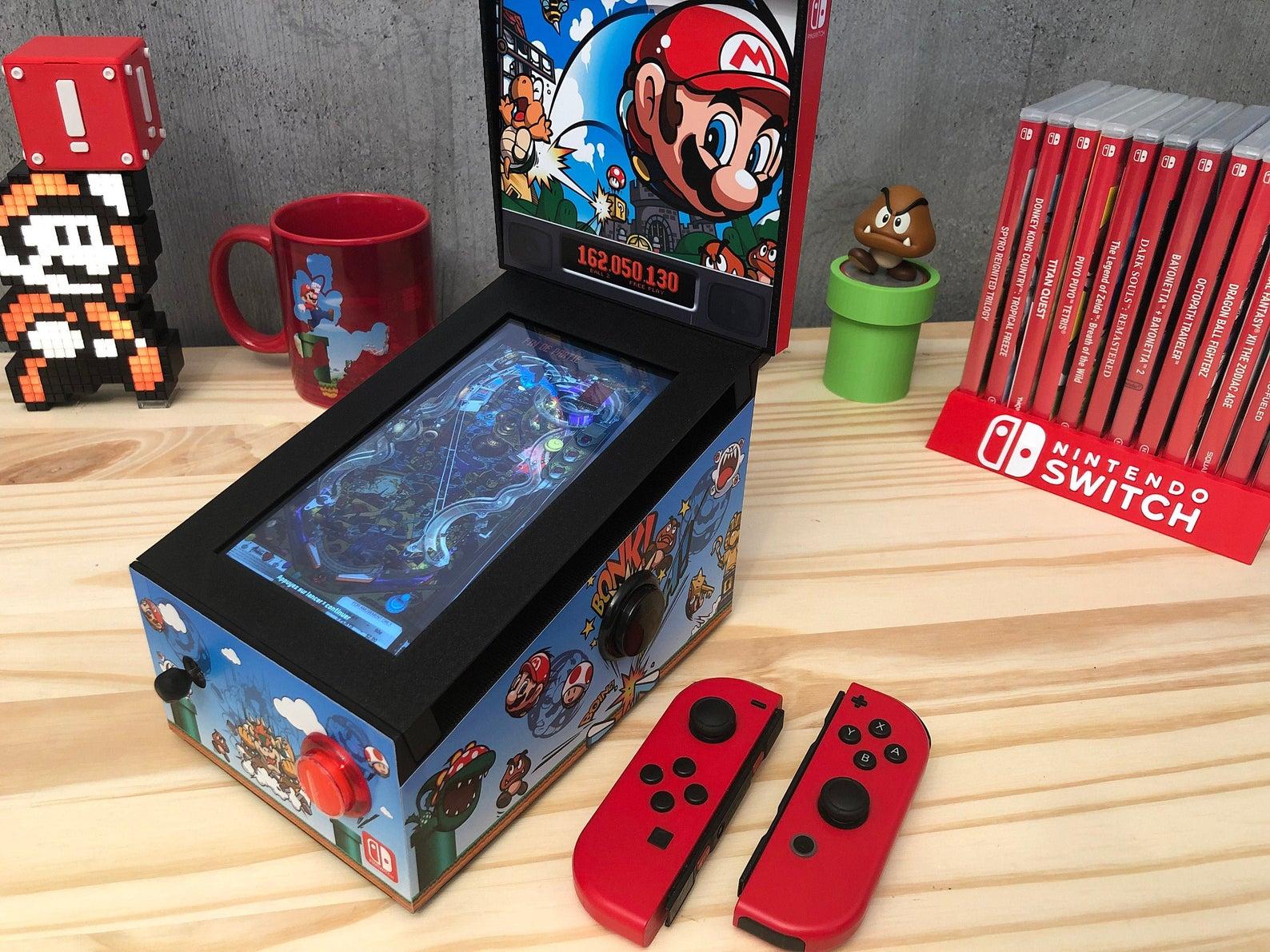 Aus der Nintendo Switch wird ein Flipper-Automat. (Foto: SakuraRetroModding)