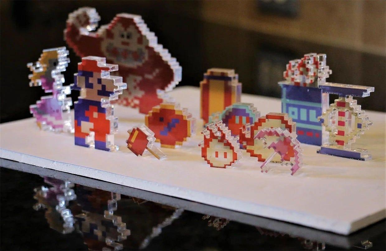 Mario und Co. als lustige Deko-Artikel aus Acrylglas. (Foto: Etsy)