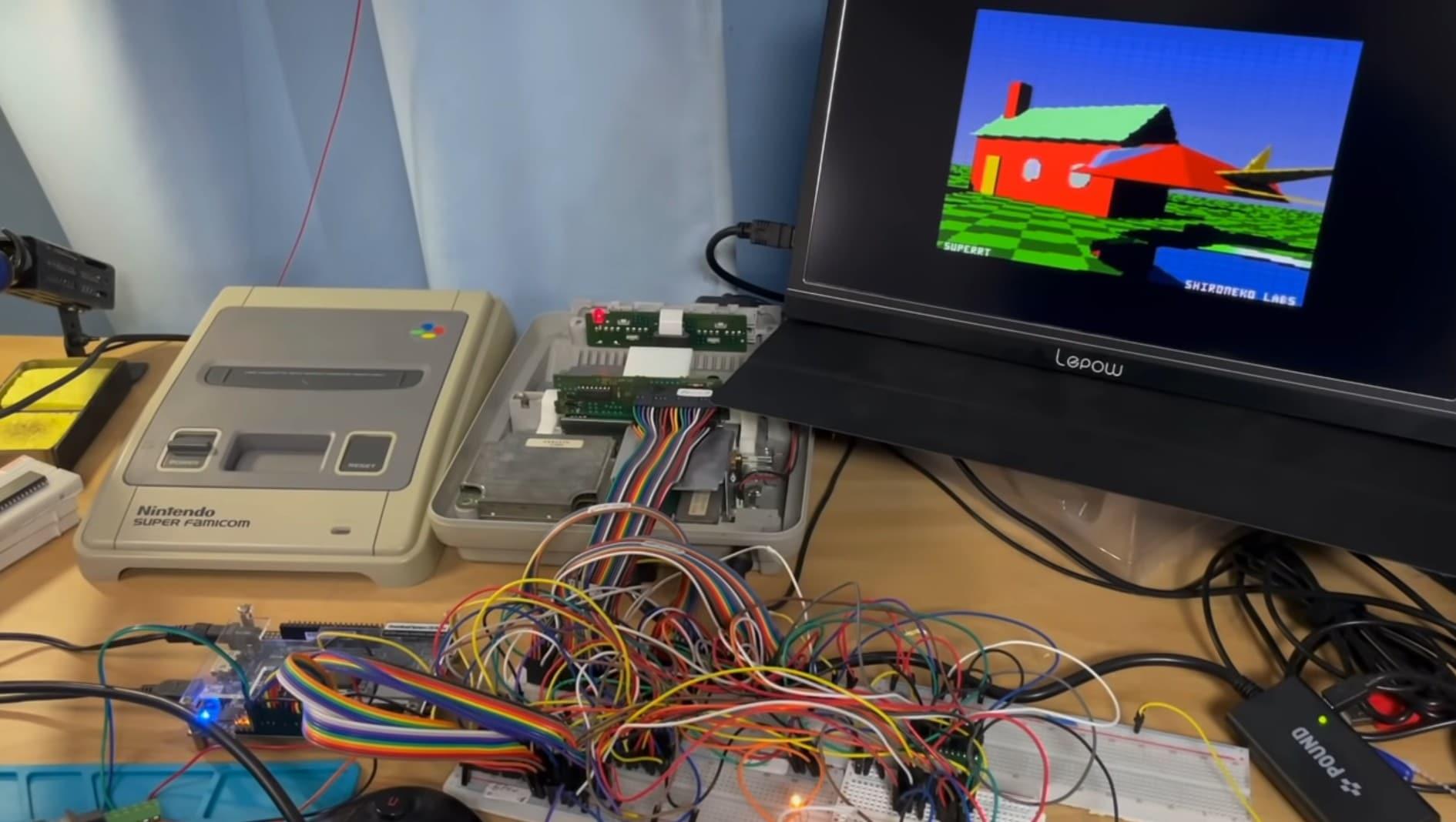 Die Konsole musste für SNES Raytracing nicht geändert werden. (Foto: Screenshot / Youtube)