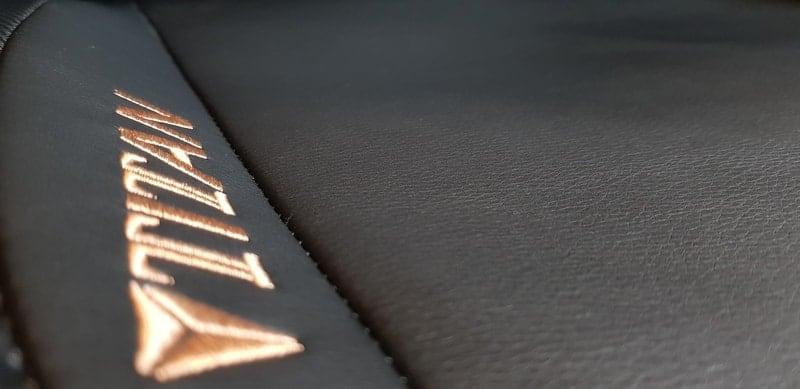 Close up of the secretlab titan PU leather