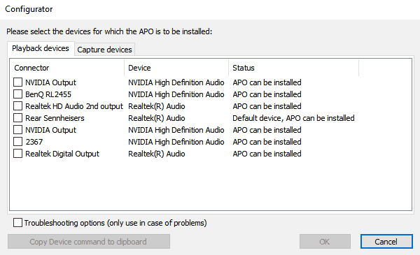 Equalizer APO configurator install