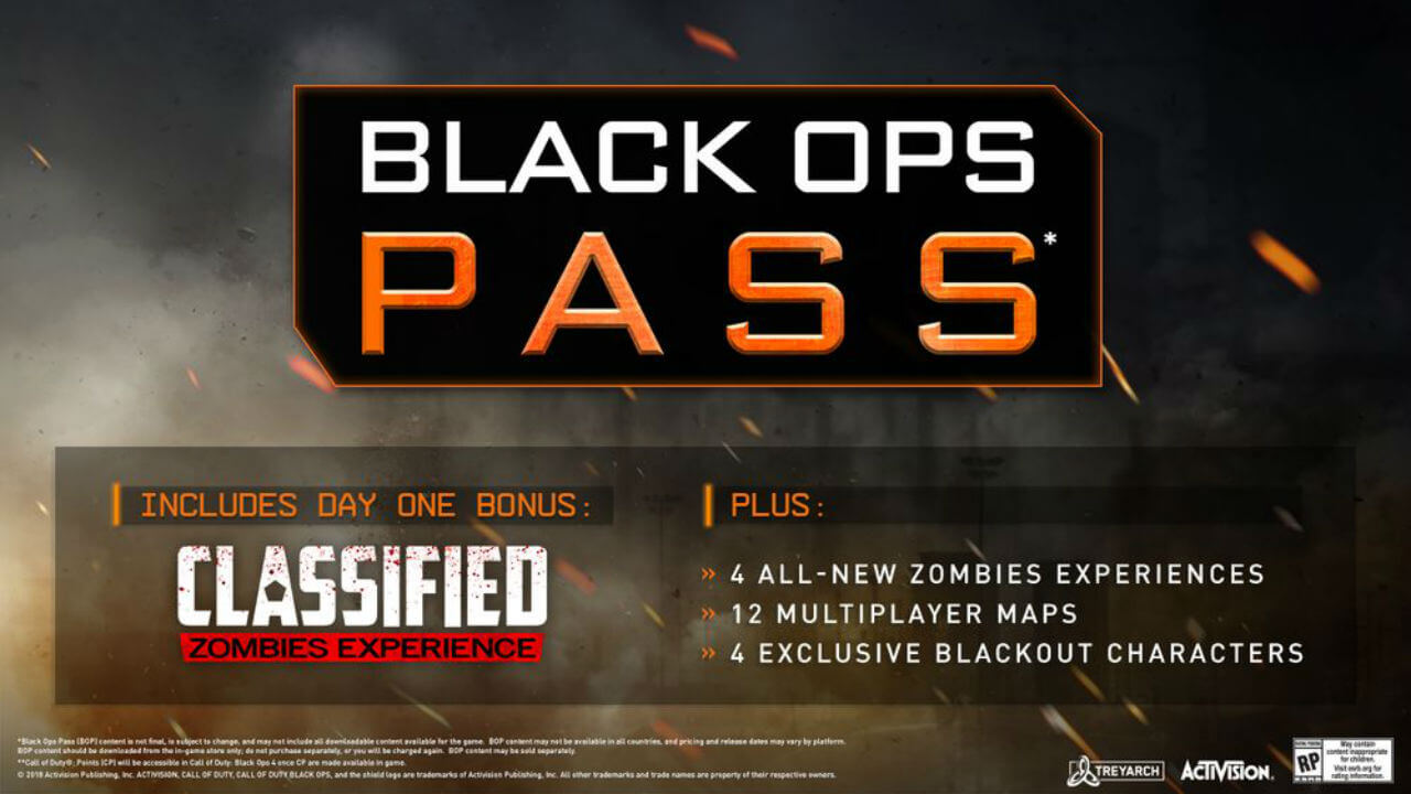Black Ops 4 Pass And DLC U-Turn - Can Be Bought Separately