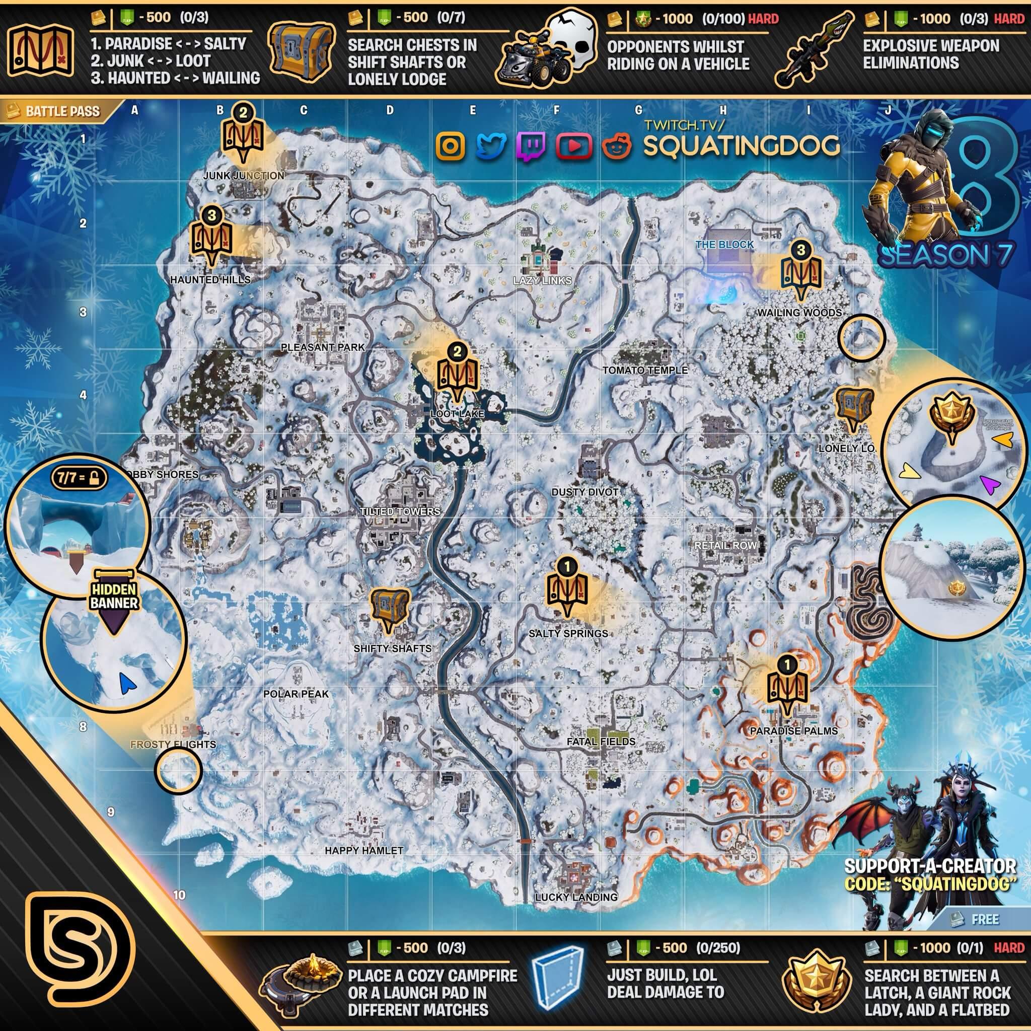 All Campfire Locations Fortnite Season 10 Campfire Locations In Fortnite Season 7 Fortnite Cheats Cute766