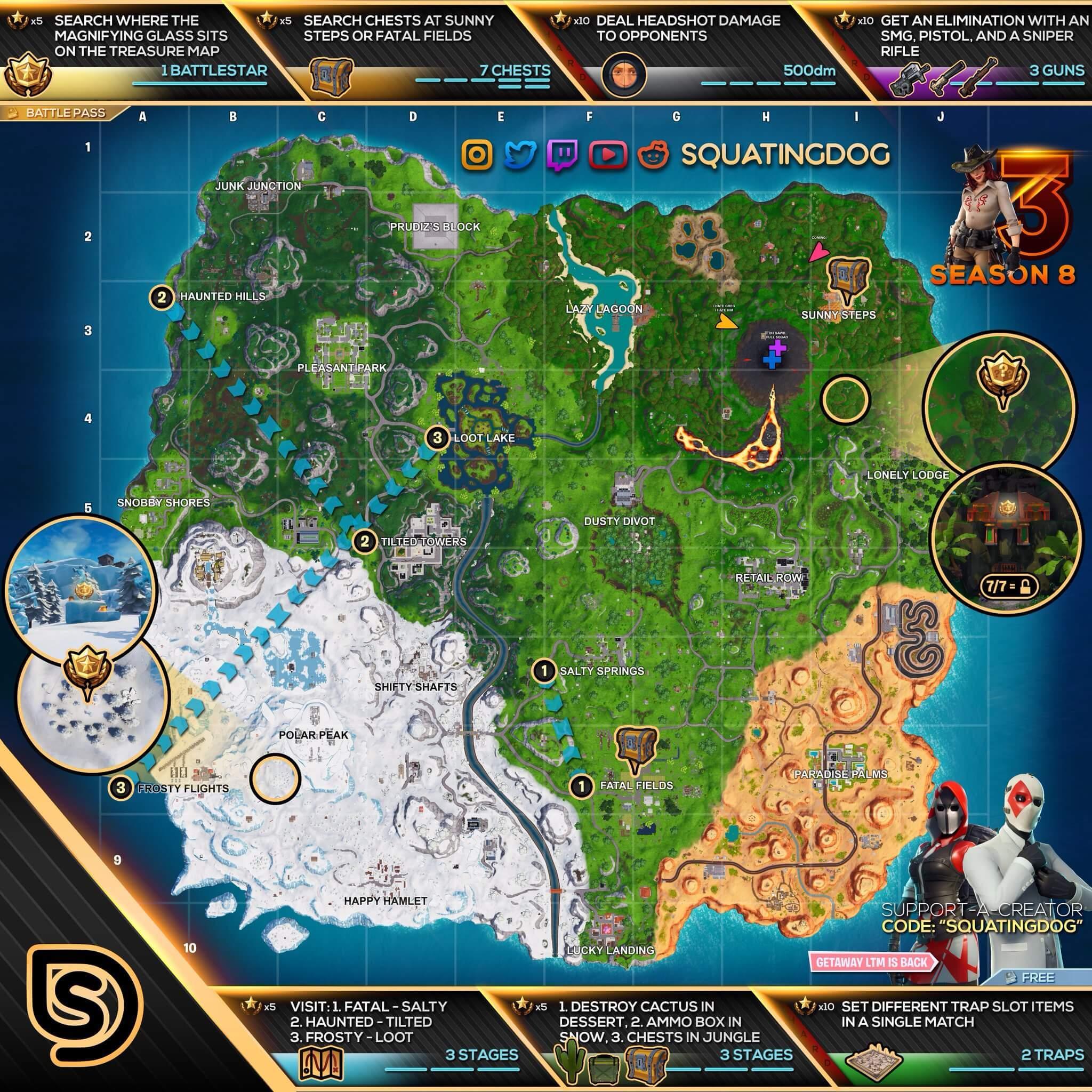 Fortnite Season 10 Cheat Sheet Fortnite Cheat Map Week 6