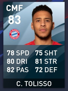 Best Gold Players in Pes 2020, Corentin Tolisso