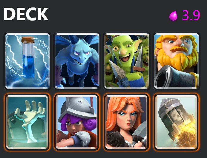 Best f2p decks in Clash Royale, Royal Giant Rocket