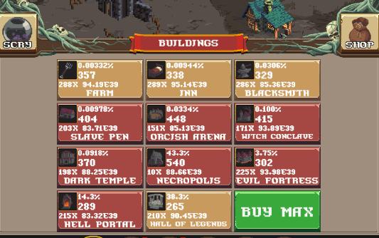 realm grinder buildings menu