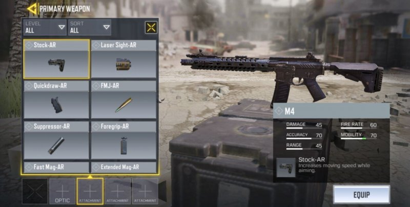 gun attachments in COD Mobile