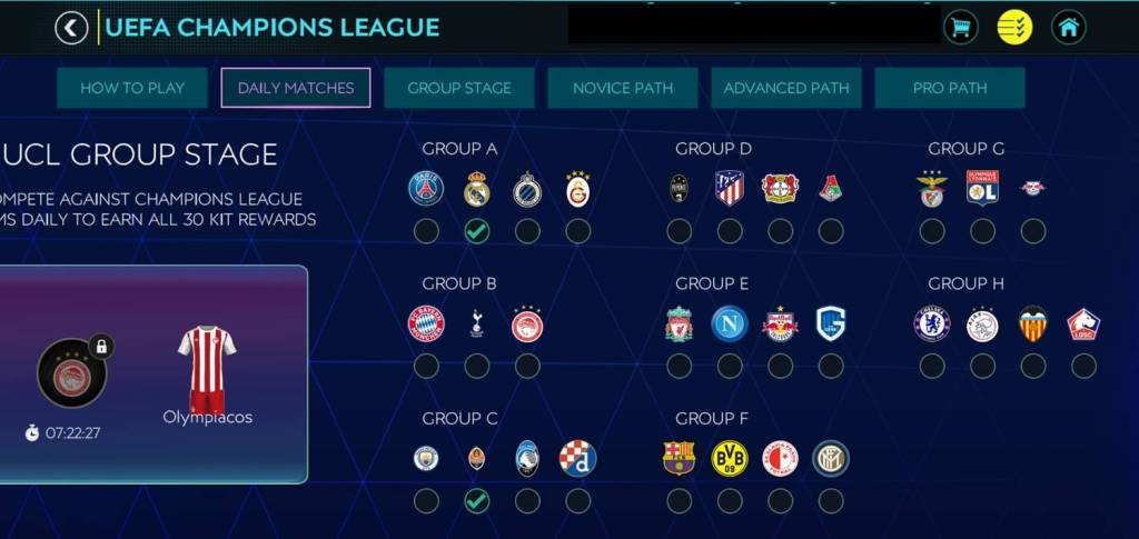 Fifa Mobile UCL Group Stage