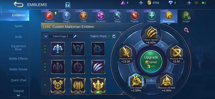 Mobile Legends Wanwan guide Emblem