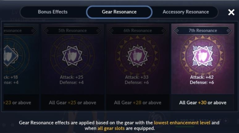 gear resonance, black desert mobile