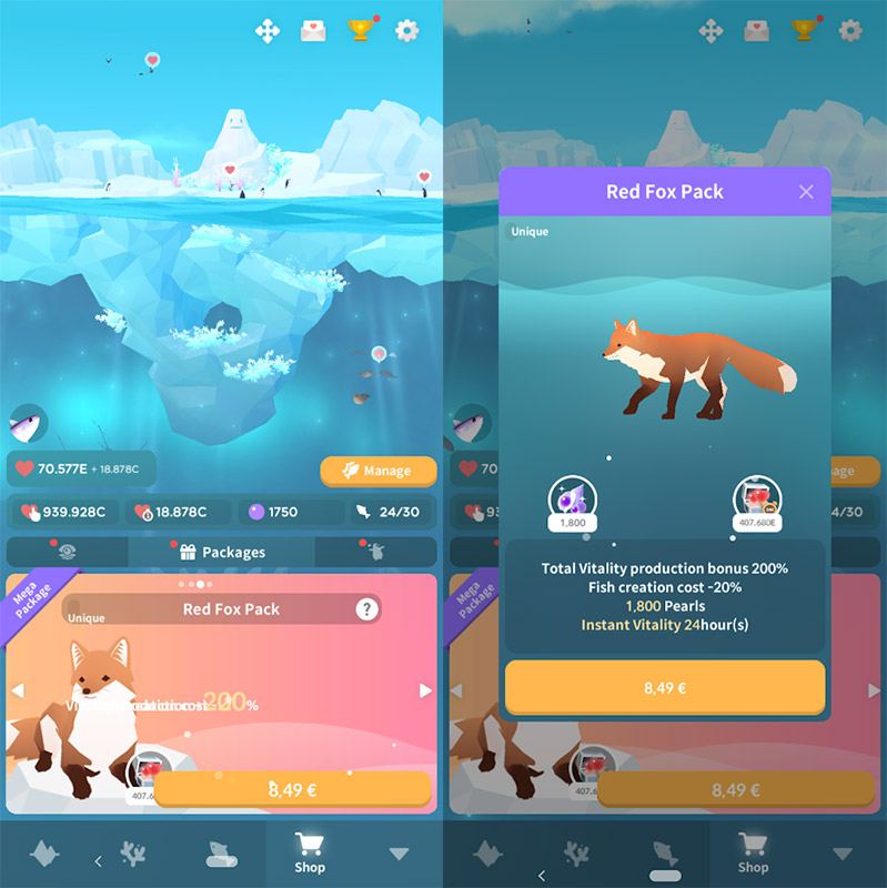 Tap Tap Fish - Abyssrium Pole red fox pack, Abyssrium Pole review