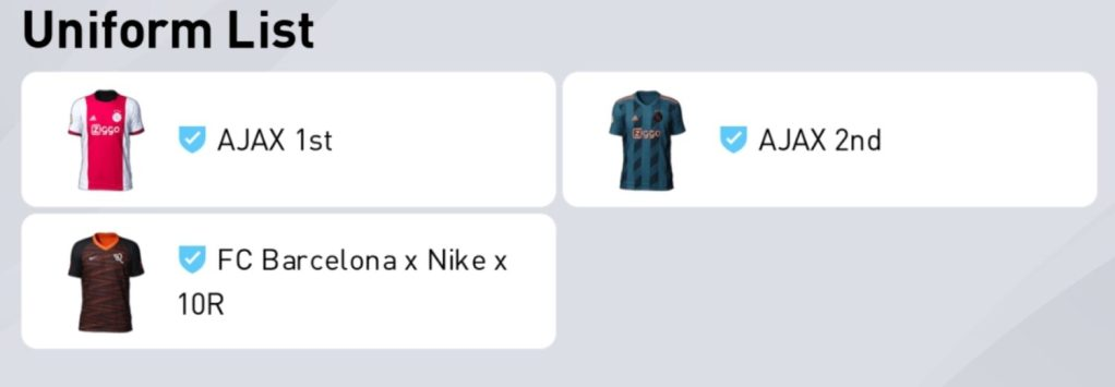 Uniforms update in PES Datapack 4.0