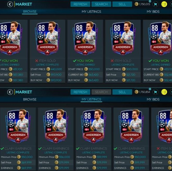 How to get good players in FIFA Mobile at the Market