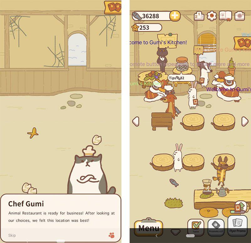 animal restaurant screenshots