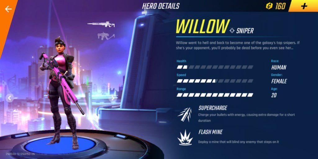 willow shadowgun hero