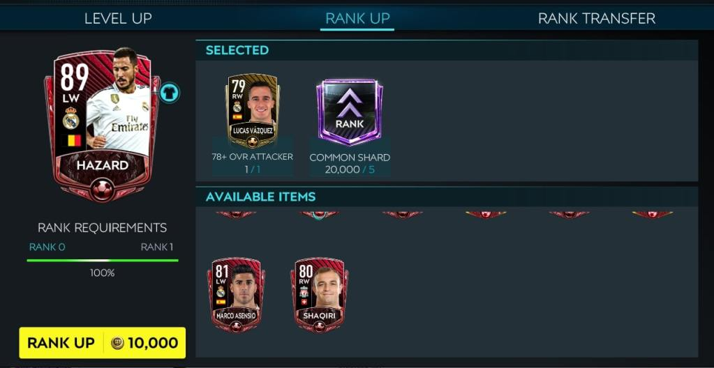 FIFA Mobile 20 Rank Up