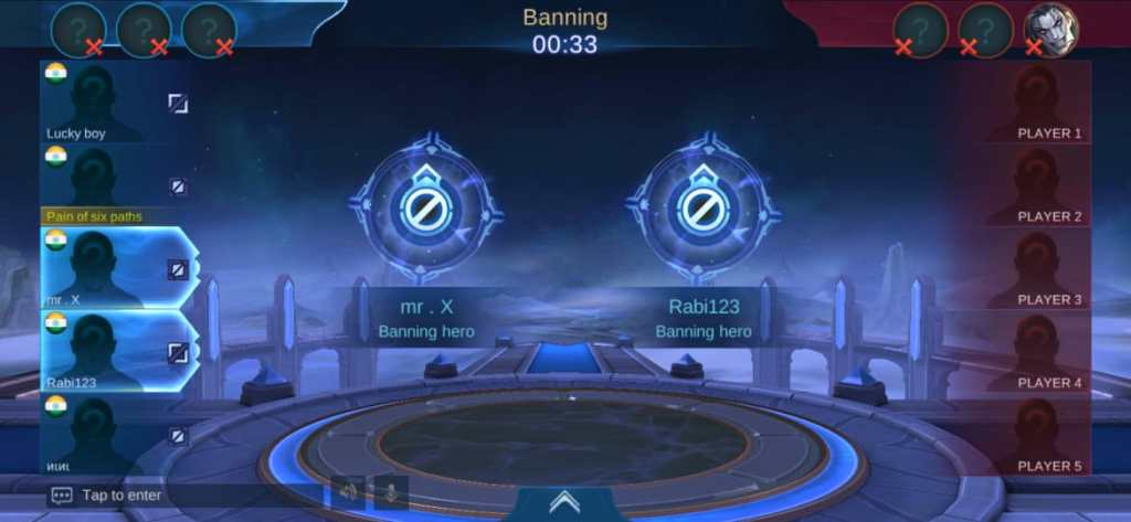 3 bans in epic Mobile legends