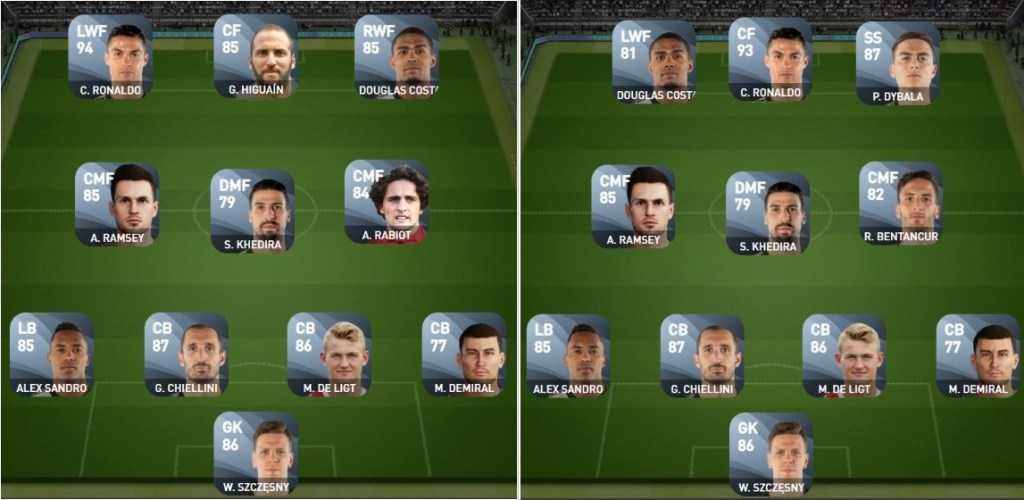 Matchday squad builders in PES