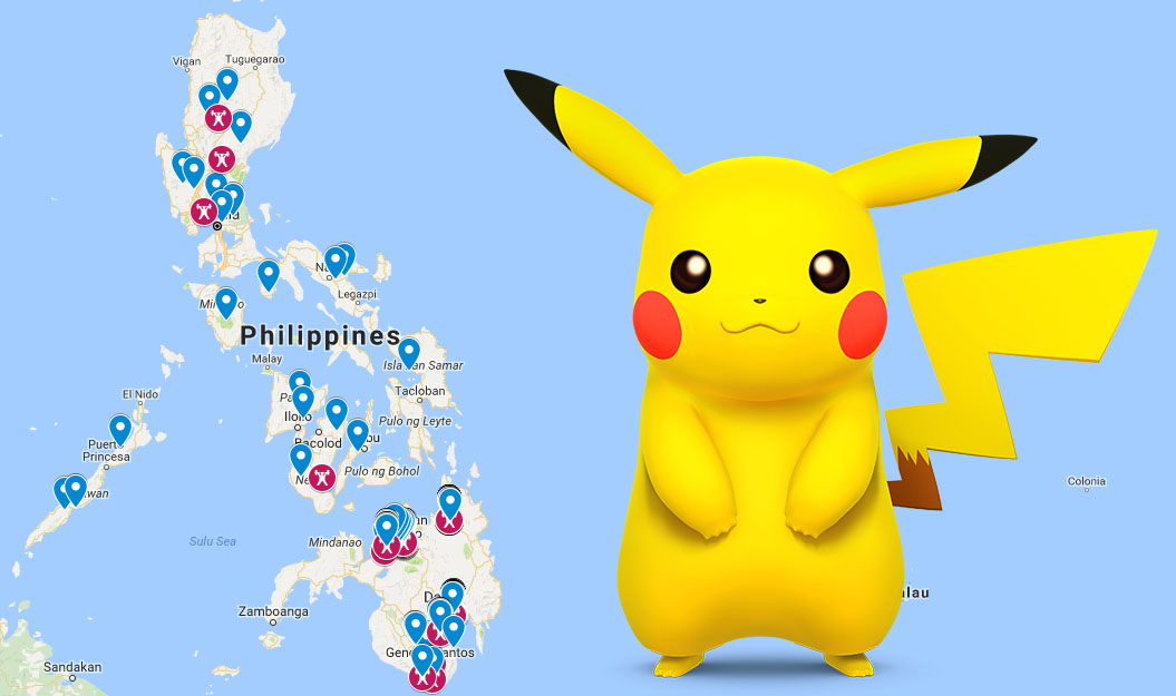 Philippines PokeStop and PokeGym Map for Pokemon Go – GamingPH com