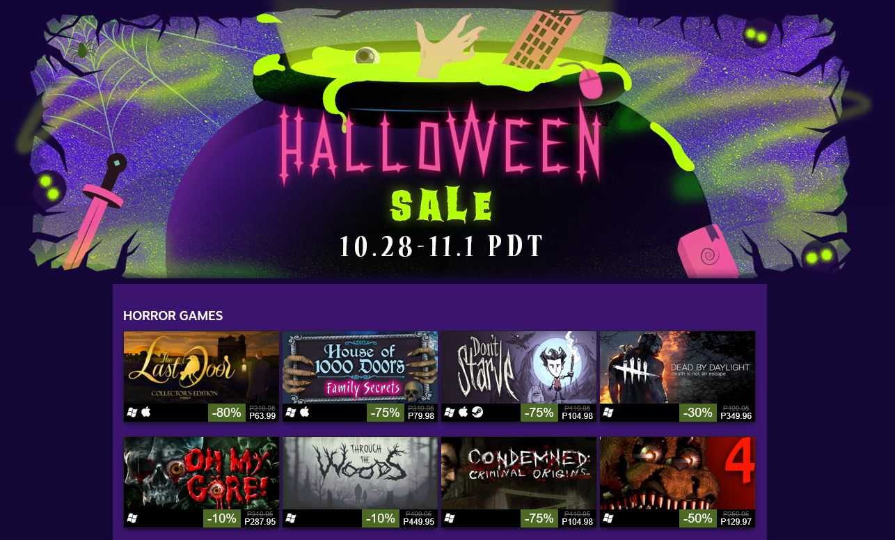 Ready Your Wallet Its Steam Halloween Sale 2016 2 You Have To Reload For This Year Valve Kicks Off With Various Games Movies And Some Updates