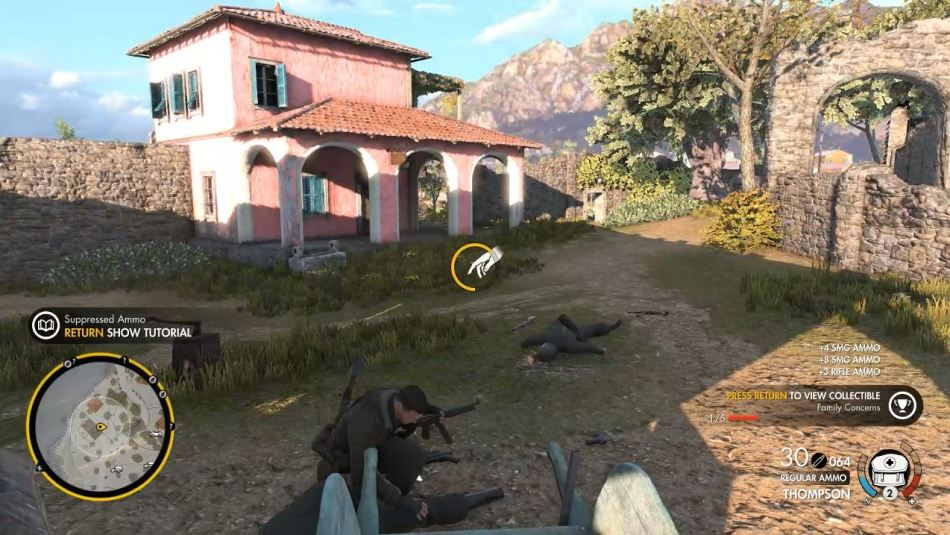 Sniper Elite 4 looting