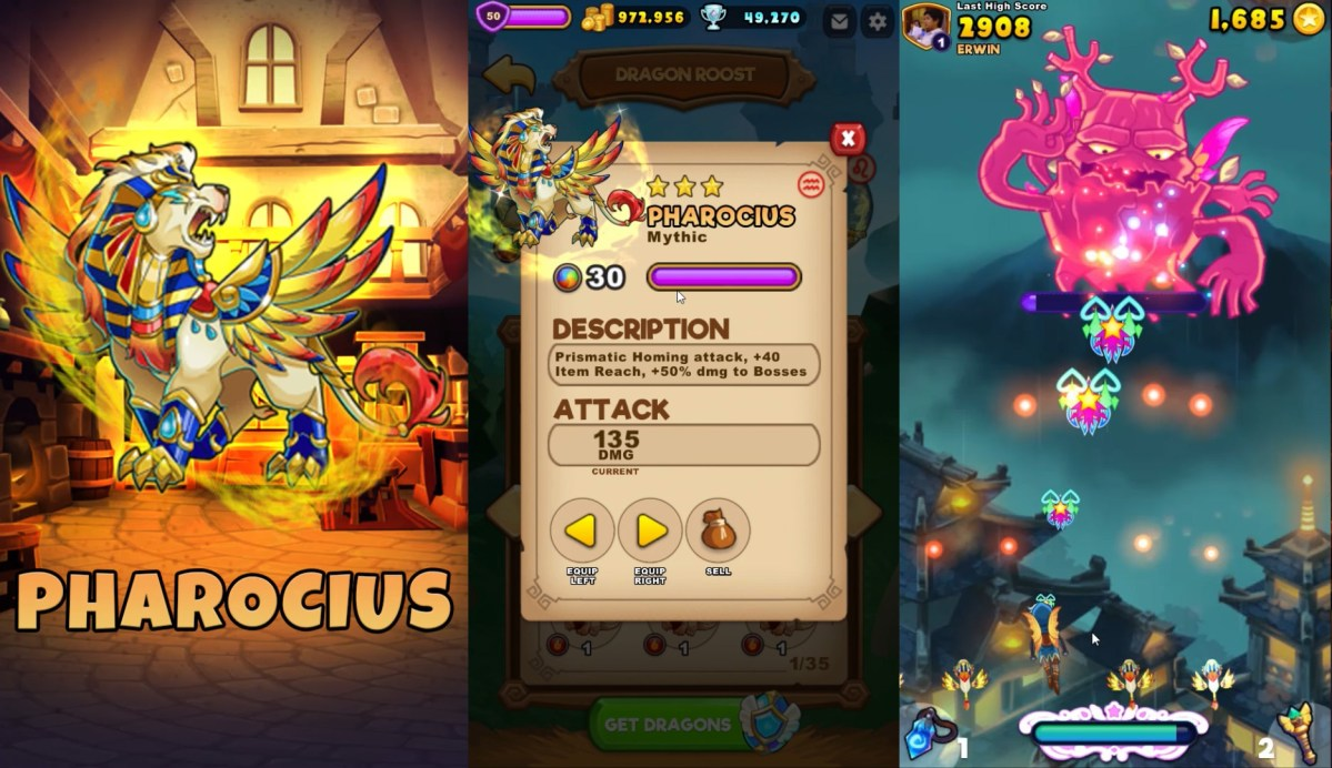 Everwing New Mythic Sidekick Dragon Pharis, Pharion and Pharocius