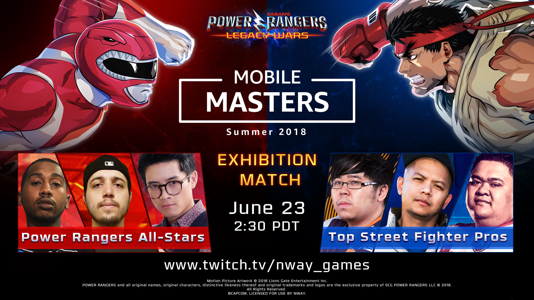 Street Fighter And Power Rangers Pros Face Off In Amazon S Mobile Masters Gamingph Com