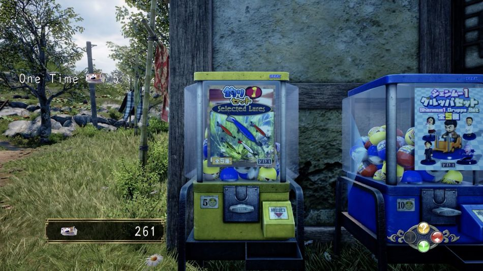 Capsule set Yellow machine lure in Shenmue 3