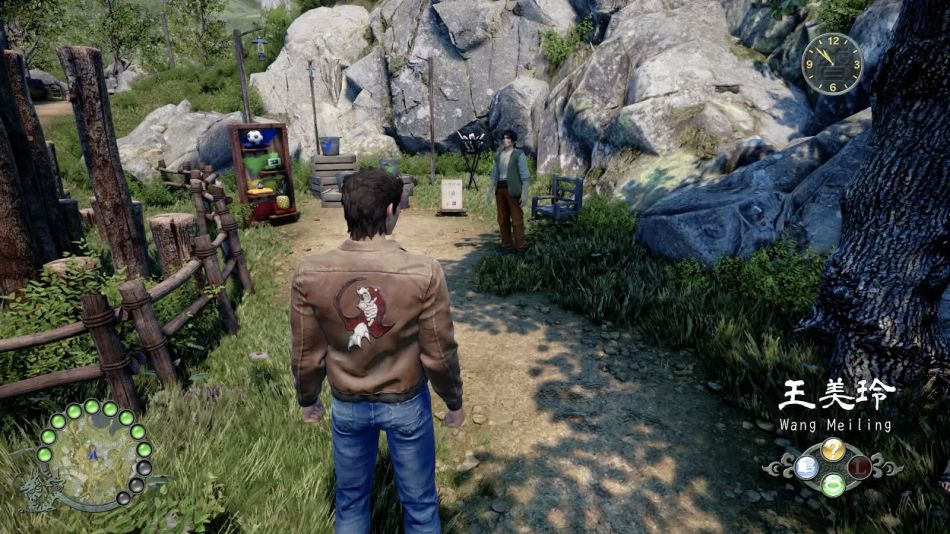 Pail toss game in shenmue 3 (soccer ball)