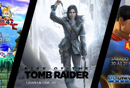 Transmissões Da Semana: Sonic, Tomb Raider e DC Universe Online