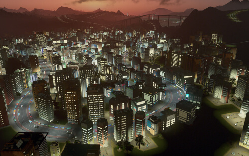 Cities Skylines After Dark Pic