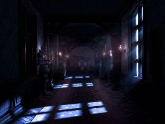 mansion dark concept hallway moon luigi gloomy creepy manor corridor round luigis ghost king eerie animated gamingreinvented mario game lighting