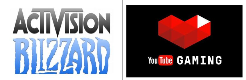 activision blizzard announce partnership with youtube gaming logo