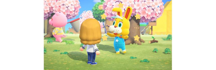 animal crossing easter event special logo