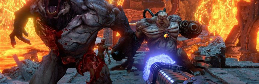 doom eternal release date moved by gamestop logo