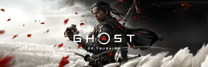 ghost of tsushima release date title screen