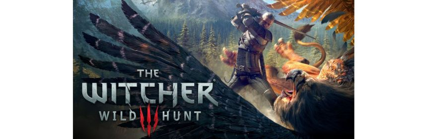 the witcher 3 wild hunt title screen logo