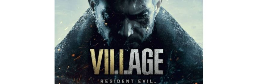 resident evil 8 village title screen logo