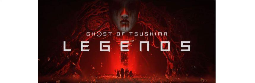 ghost of tsushima legends title screen logo