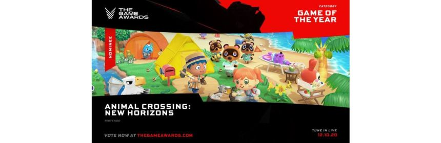 animal crossing game of the year 2020 title screen logo