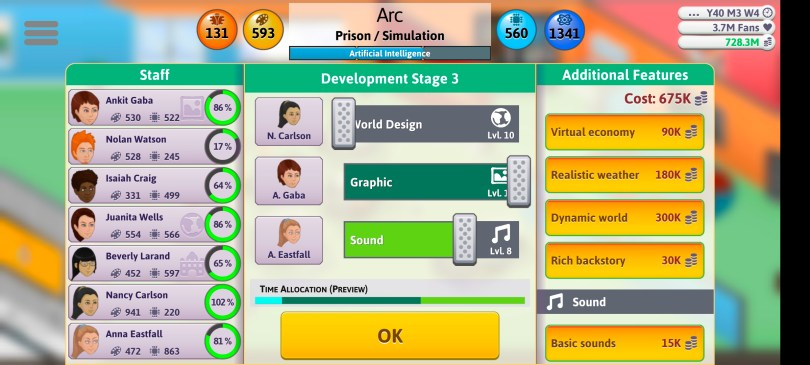 Simulation Game Sliders 3