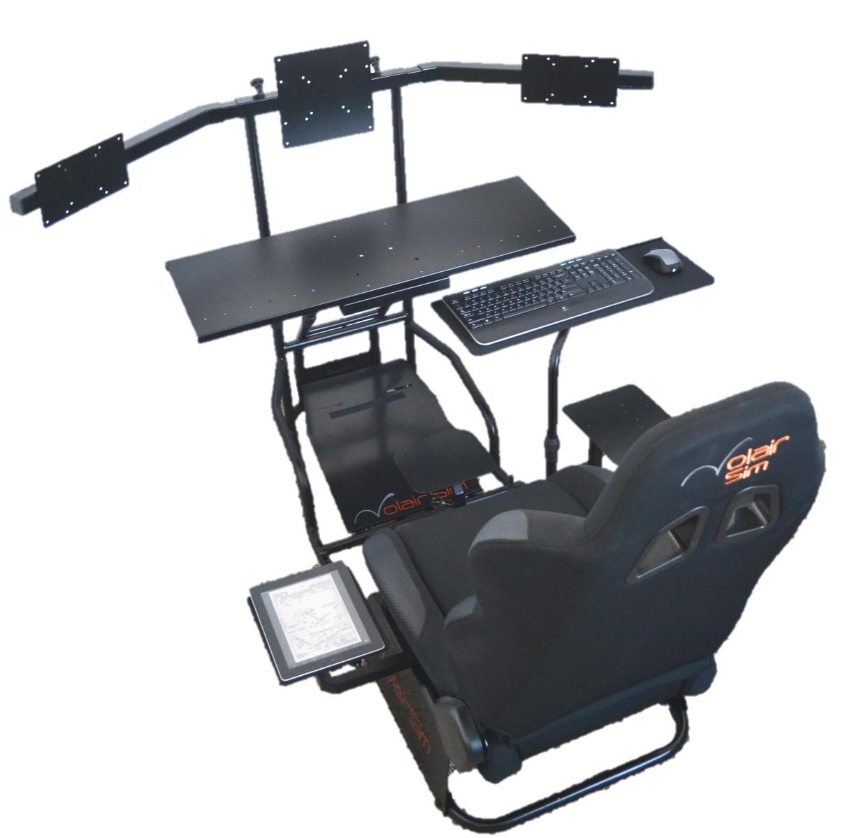 flight simulator chair 360 staples drafting volair sim racing cockpit review gamingshogun