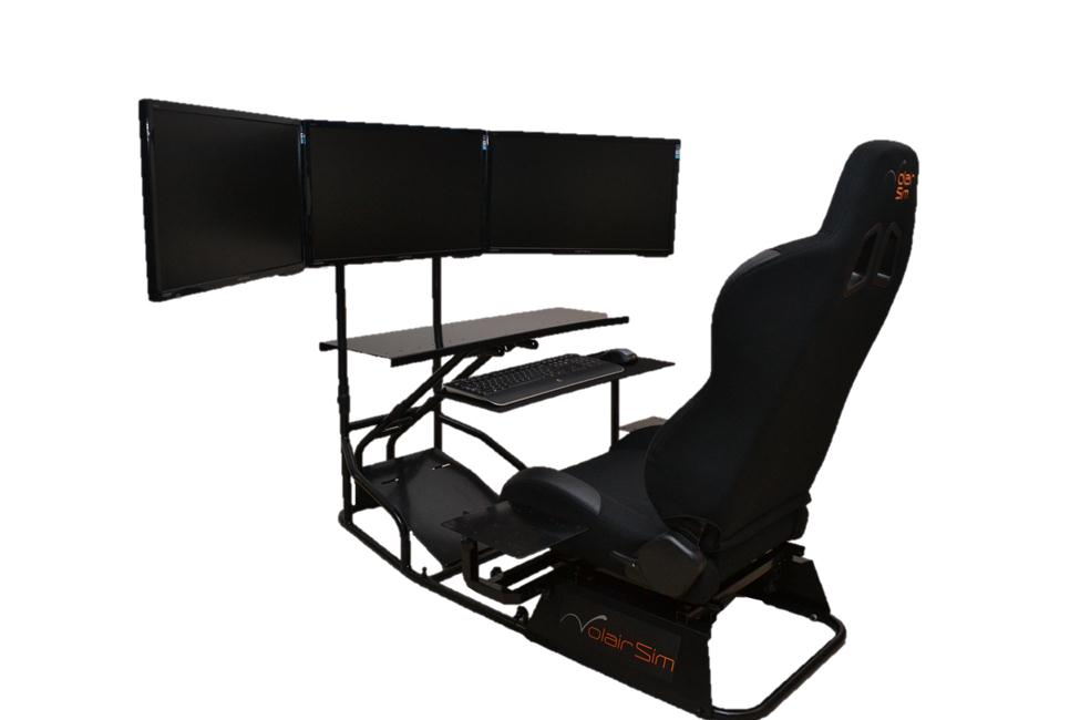 cheap gamer chair spacesaver high volair sim flight / racing cockpit review | gamingshogun