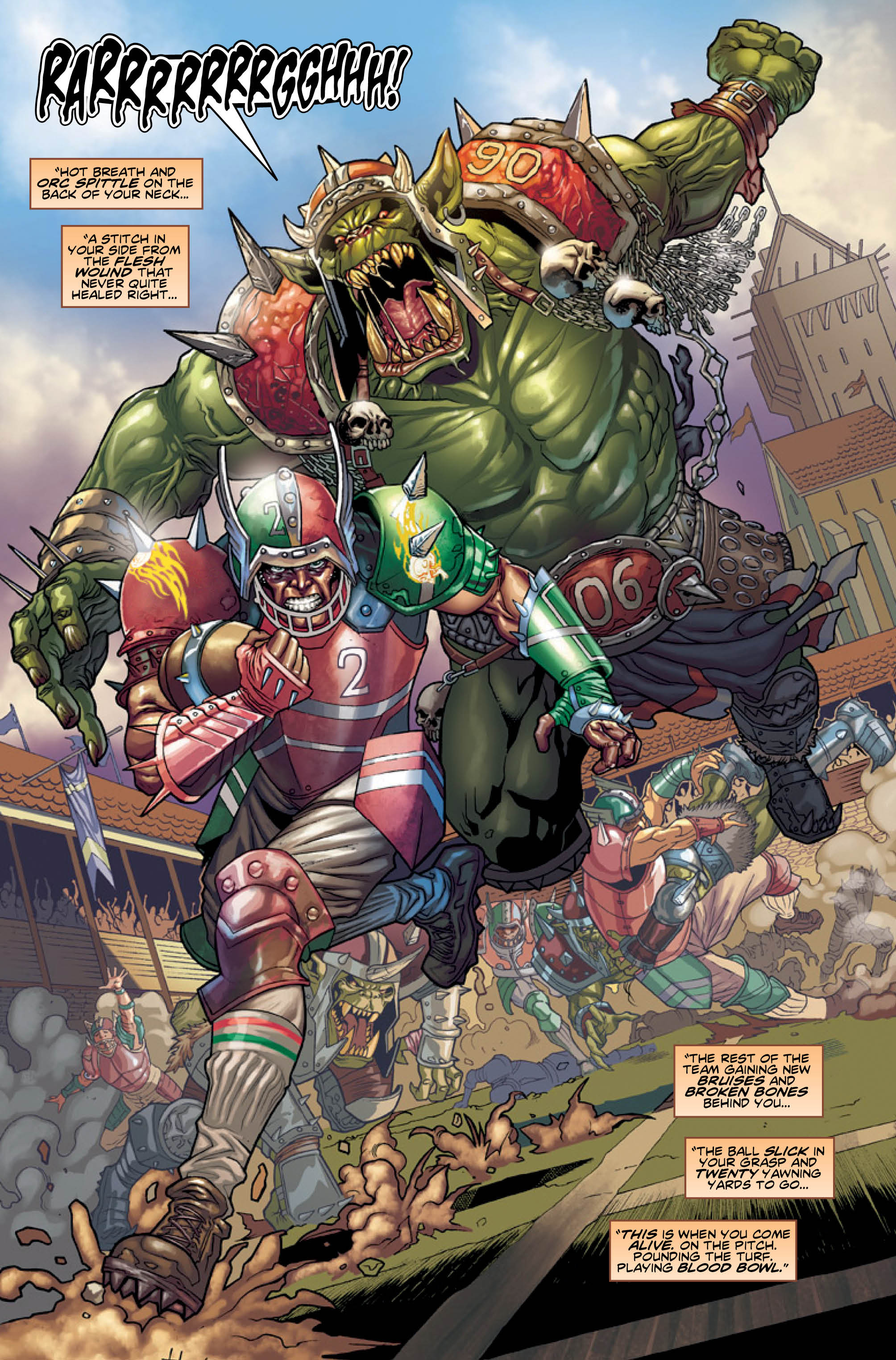 Blood Bowl More Guts More Glory Comic Aims For A May 10 Release GAMING TREND